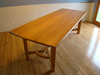 Oak Hayrake Dining Table